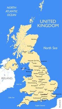 United Kingdom map   Vector detailed United Kingdom map