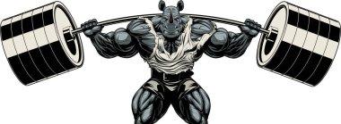 Strong rhinoceros athlete