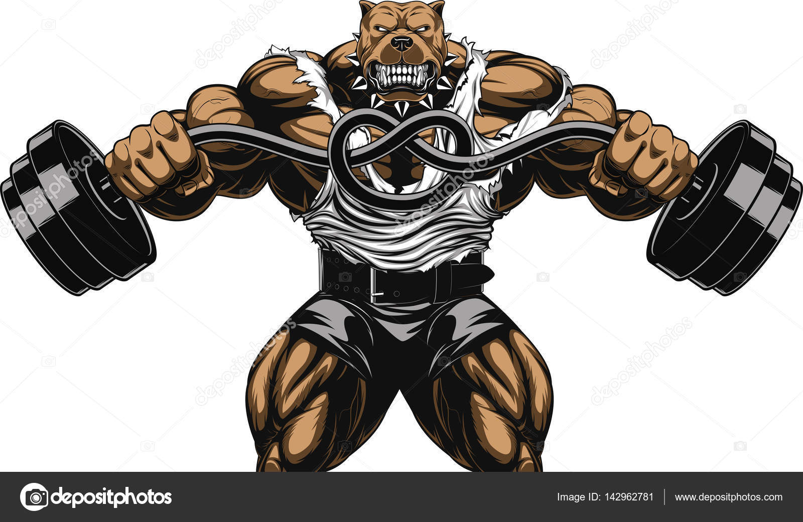 Muscle Dog Free Vector