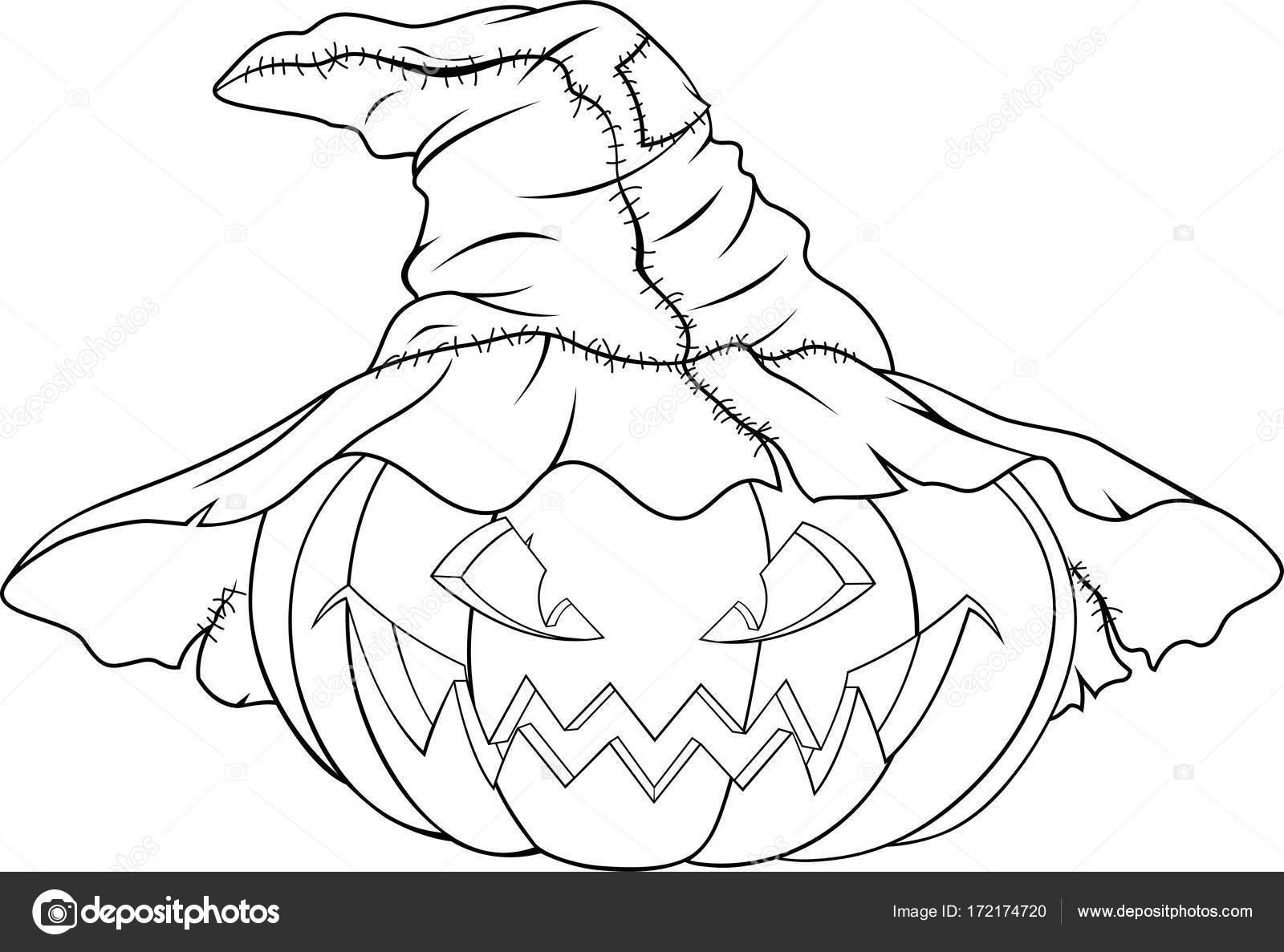 colorear calabaza para halloween — Vector de stock © Andrey_Makurin ...