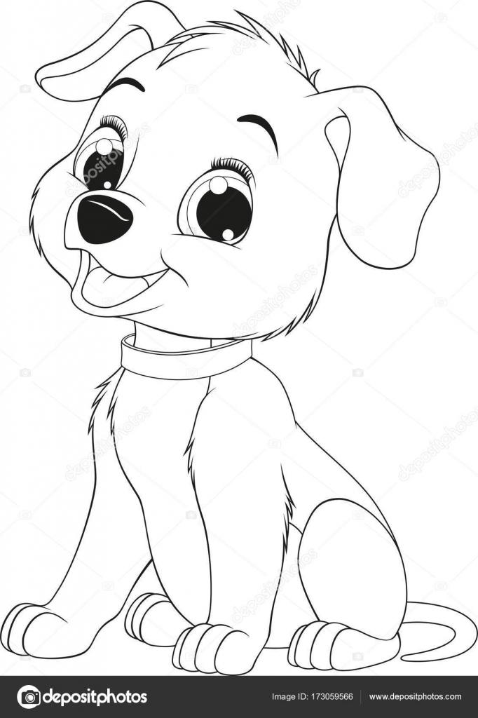 Perro gracioso niño — Vector de stock © Andrey_Makurin #173059566
