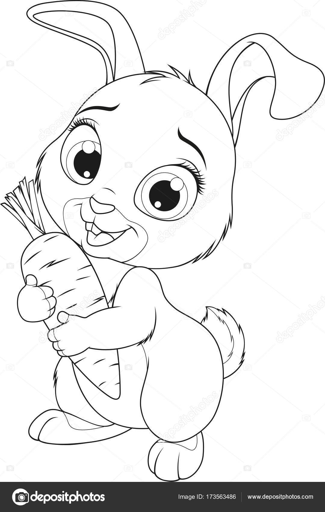 Kleine lustige Hase — Stockvektor © Andrey_Makurin #173563486