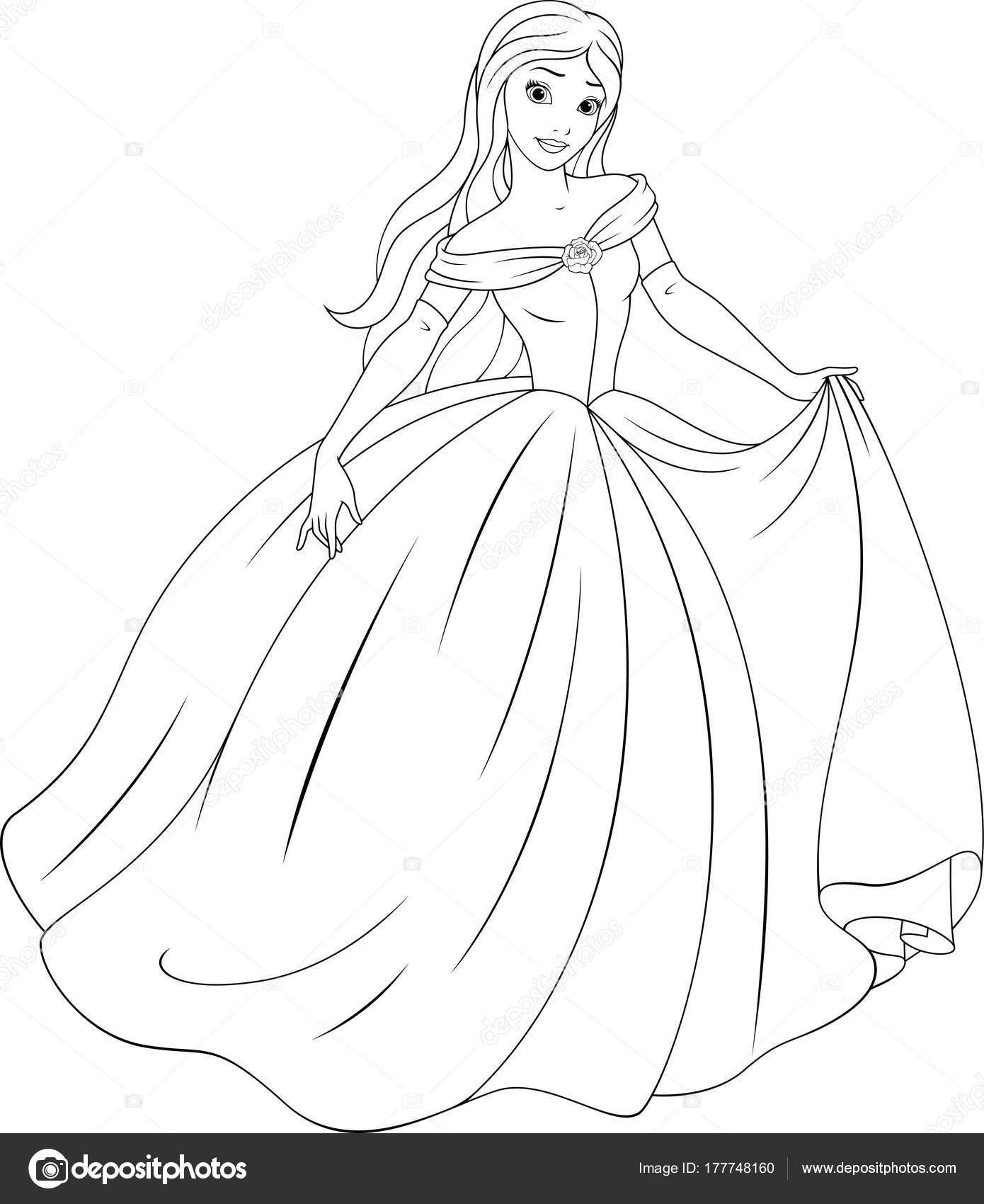 Kleurplaten Over Prinsessen.De Mooie Prinses Kleurplaten Stockvector C Andrey Makurin 177748160