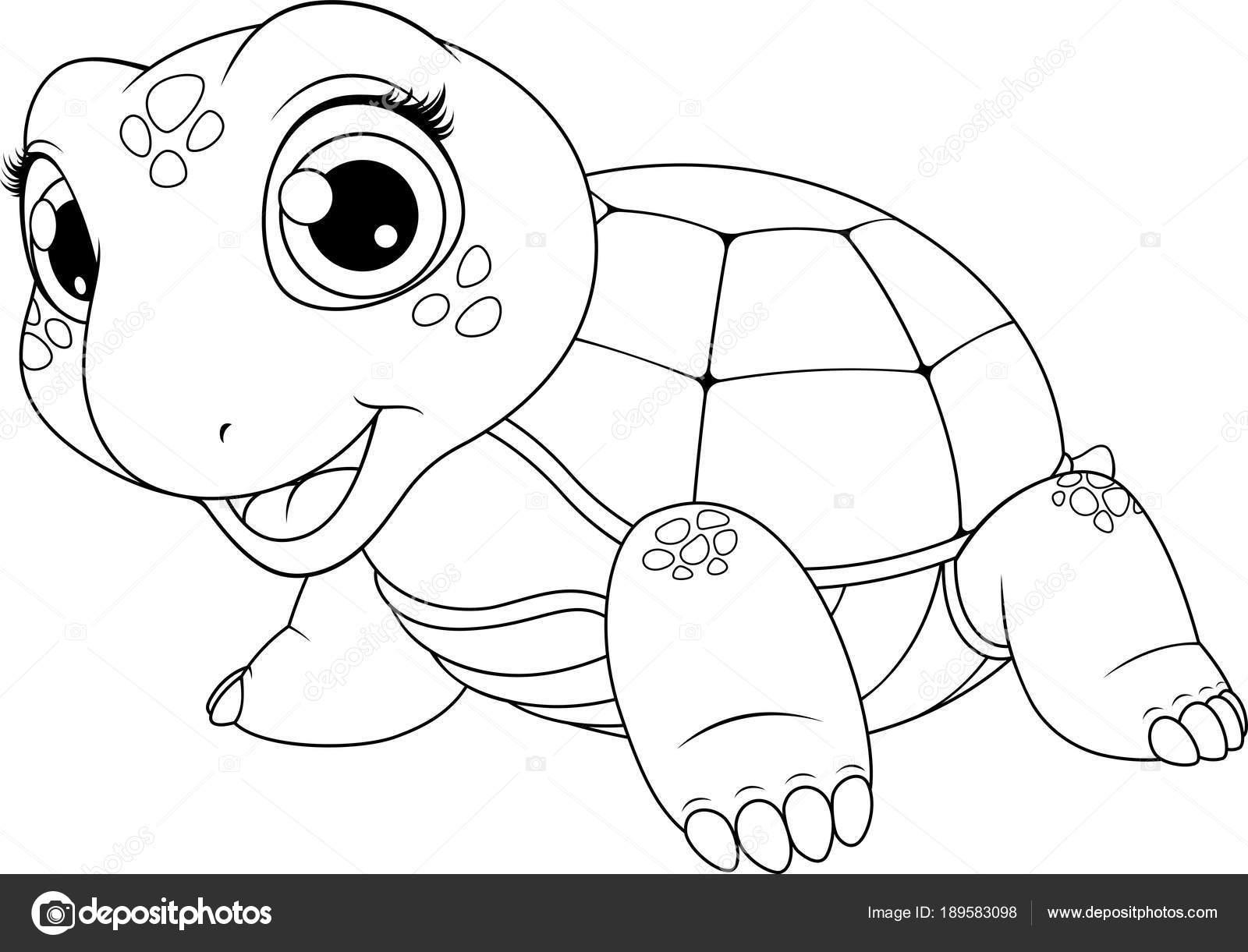 Imágenes Tortuguitas Para Colorear Tortuga De Niño Alegre
