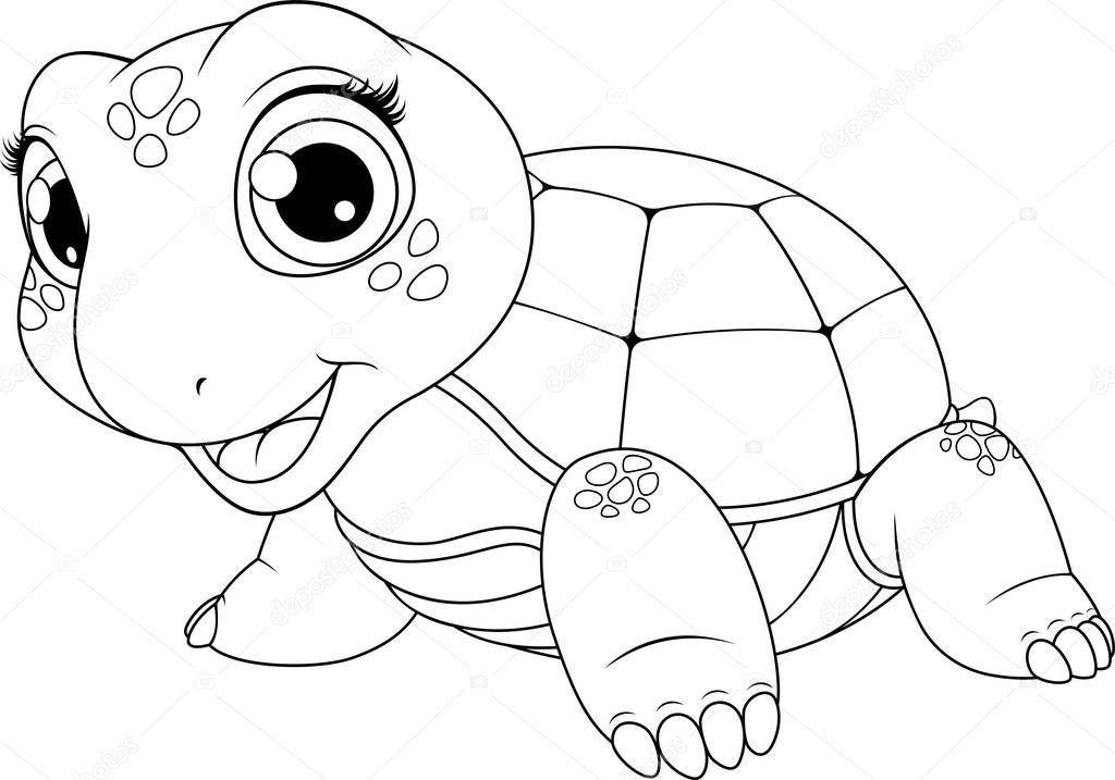 Imagenes Animadas Para Colorear: Imágenes: Tortuguitas Para Colorear