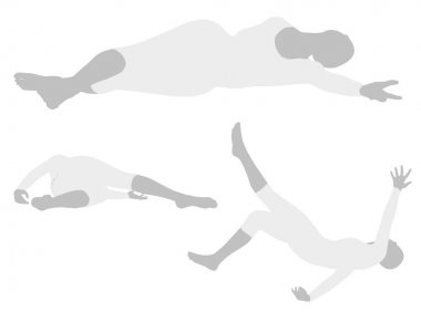 woman silhouette in  Side Sprawl Pose