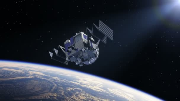 Satellite Deploys Solar Panels In The Rays Of The Sun