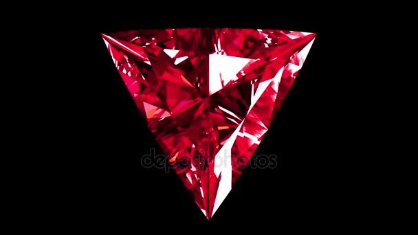 Duhové Ruby trojúhelník řezu. Opakuje. Alfa matný.