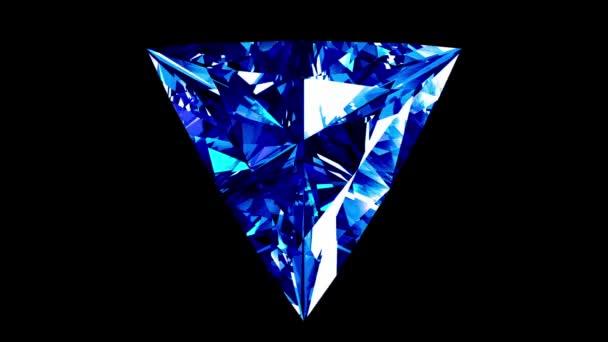 Safírové trojúhelník řezu. Opakuje. Alfa matný.