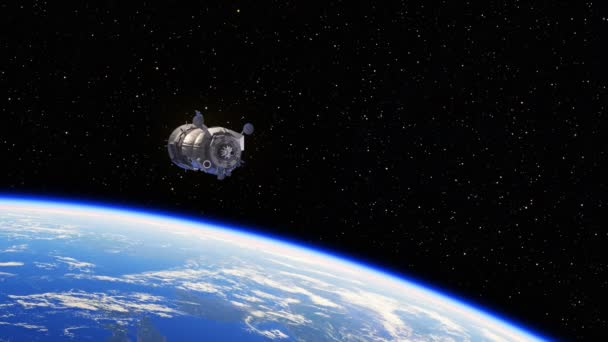 Spacecraft Deploys Solar Panels Above The Earth