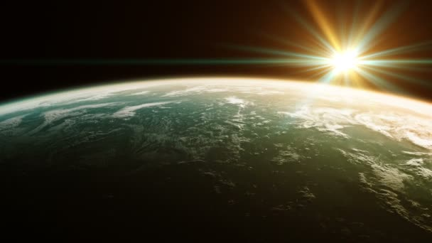 Beautiful View Of Planet From Space. Realistic 3d Animation. Seamless Looped.