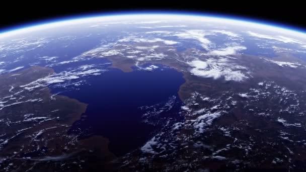 4K. Planet Erde. Erstaunlicher Blick aus dem All. Ultra High Definition. 3840x2160. Nahtlose Loopings. Realistische 3D-Animation.