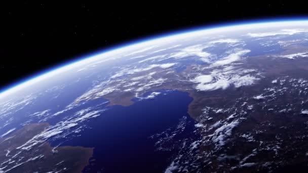 Planet Erde. Erstaunlicher Blick aus dem All. Ultra High Definition. 4K. 3840x2160. Nahtlose Loopings. Realistische 3D-Animation.