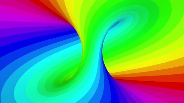 4K. Rainbow Hypnotic Stripes. Seamless Looping.