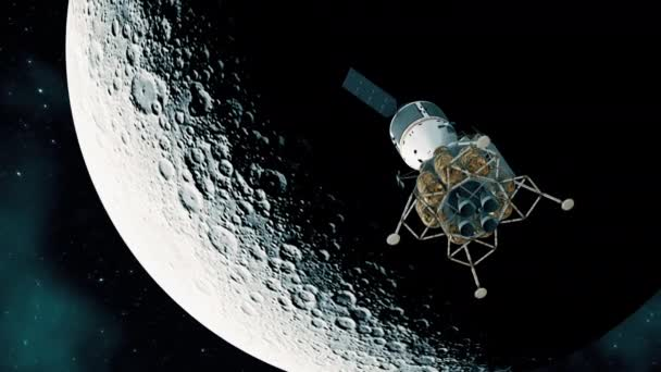 Interplanetary Space Station On The Background Of The Moon