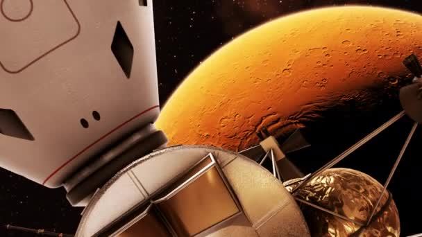 Undocking Of The Capsule Of Interplanetary Space Station And Mars Lander
