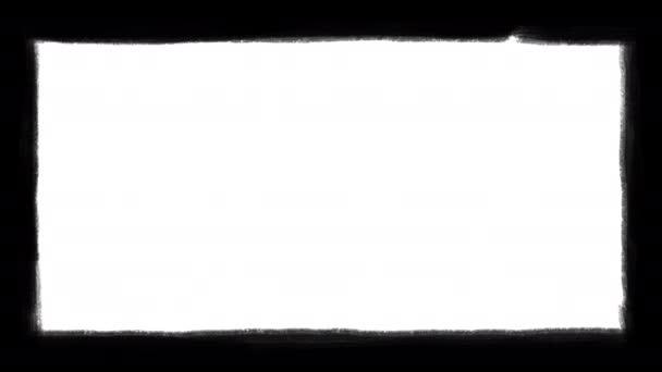 Animált grunge határkeret. A 4k-s keret határai feketére vannak festve.