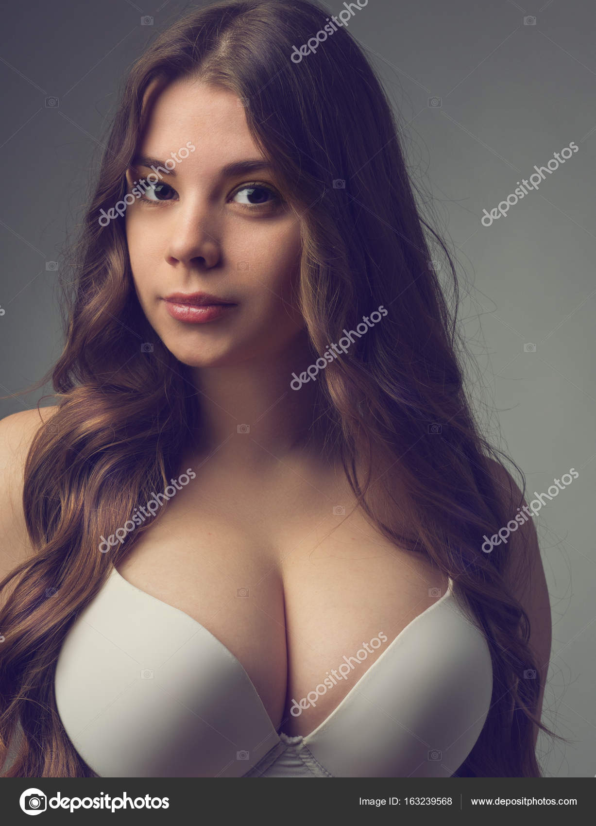 girl with huge breasts
