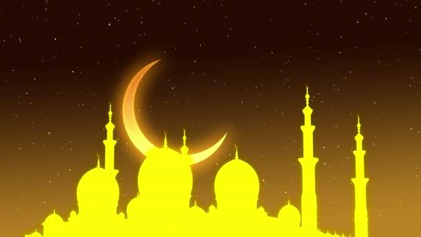 Das Symbol des Islam, der Mond und der Stern. Ramadan-Feier. 3D-Illustration