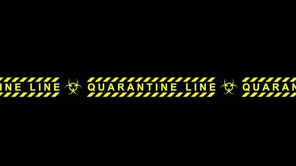 3d animation of the quarantine line. Biohazard closed area.