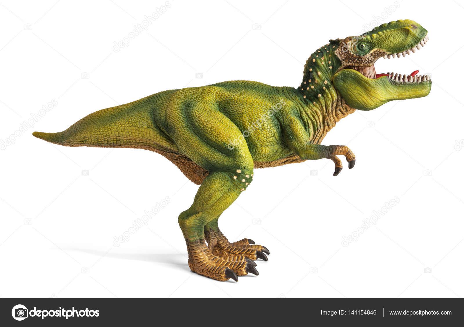 ティラノサウルスクリッピング パスと恐竜のおもちゃ ストック写真