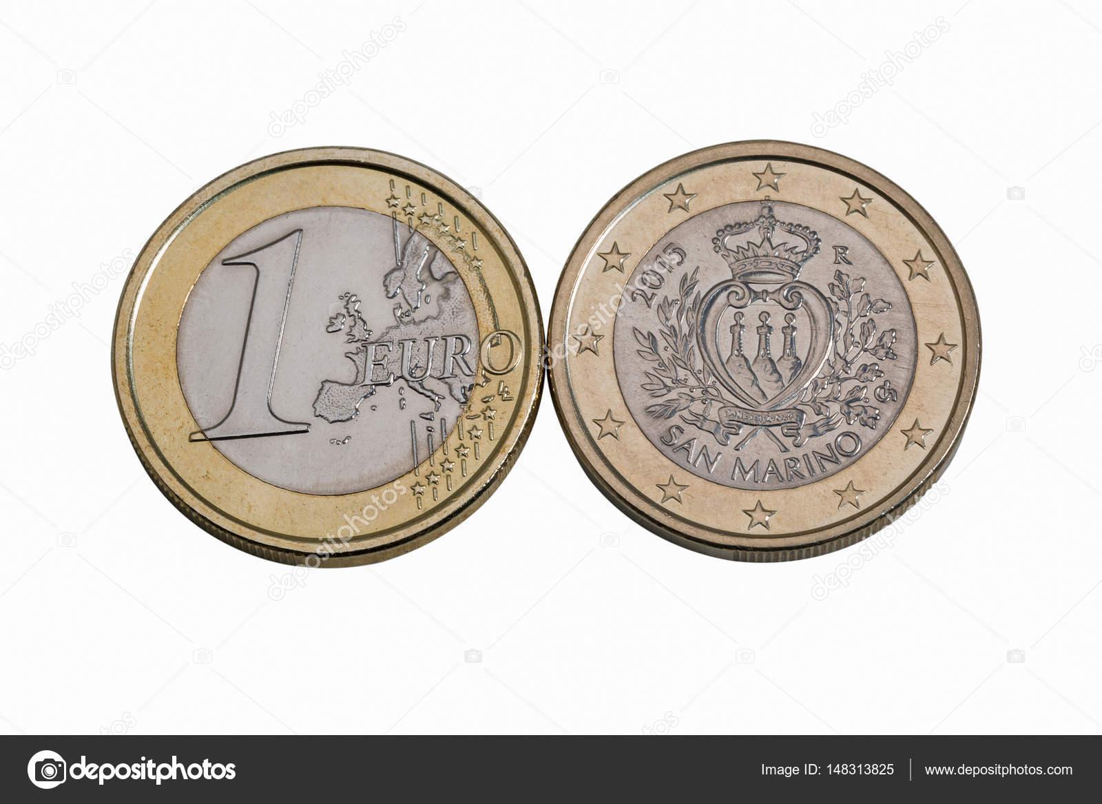 San Marino Euro Münzen Makro In Weiß Stockfoto Panama7 148313825