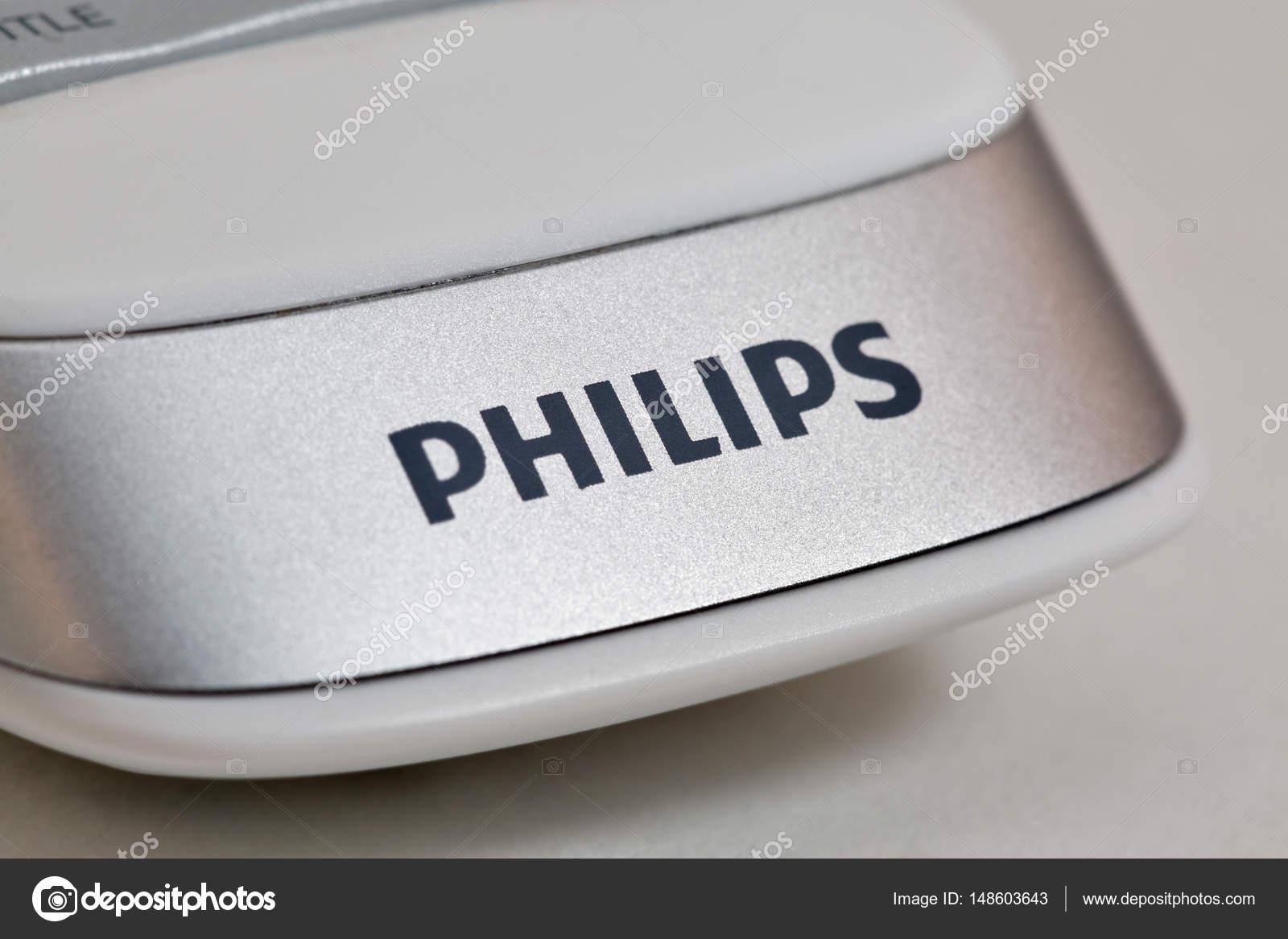 Modern remote control of smart TV Philips closeup  – Stock