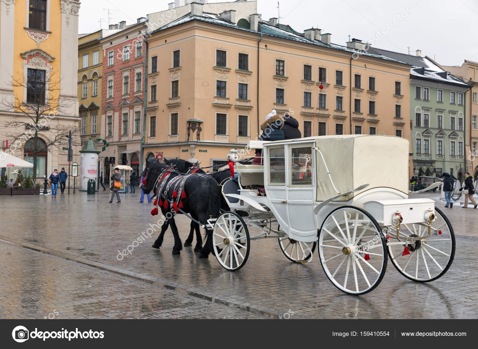Horse Carriage In Krakow Old City Poland Stock Editorial Photo C Panama7 159410554