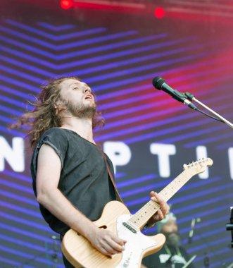 Sinoptik rock band performs at Atlas Weekend. Kiev, Ukraine.