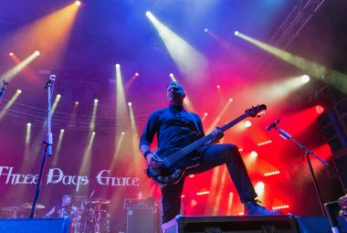 Three Days Grace band performs at Atlas Weekend. Kiev, Ukraine.