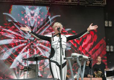 ONUKA electro band performs at Atlas Weekend festival. Kiev, Ukraine.