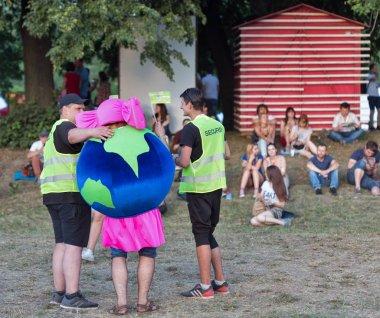 Fans at Atlas Weekend music festival in Kiev, Ukraine.