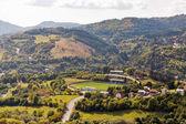 Fotografie Štiavnického podzimní městské krajiny na Slovensku