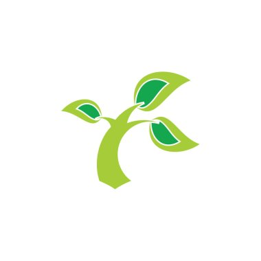 Tree simple blow by the wind logo clip art vector