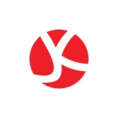 letter jk linked negatives space logo vector