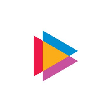 abstract letter d triangle geometri clogo vector