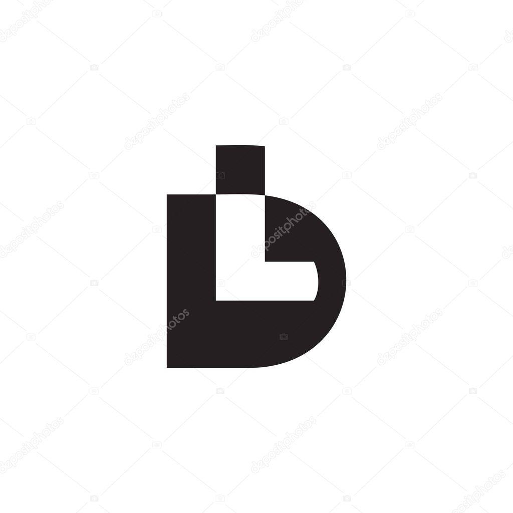 Colorful Letter Dl Simple Geometric Design Logo Vector Premium Vector In Adobe Illustrator Ai Ai Format Encapsulated Postscript Eps Eps Format