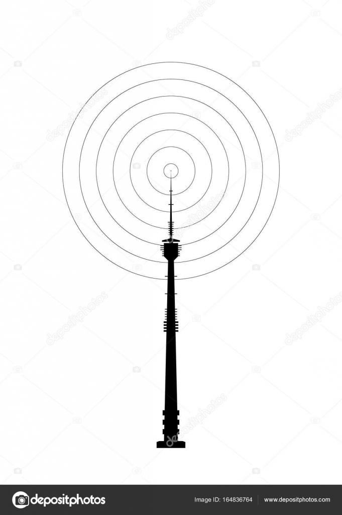 Telekommunikation-Turm-Symbol — Stockvektor © aleksdemeshko #164836764