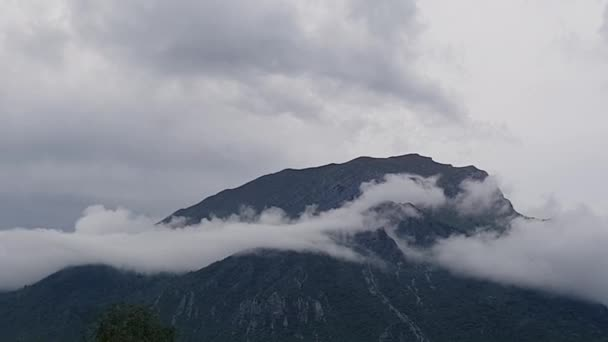 pan shot of mountains and clouds