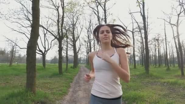 attractive woman jogging