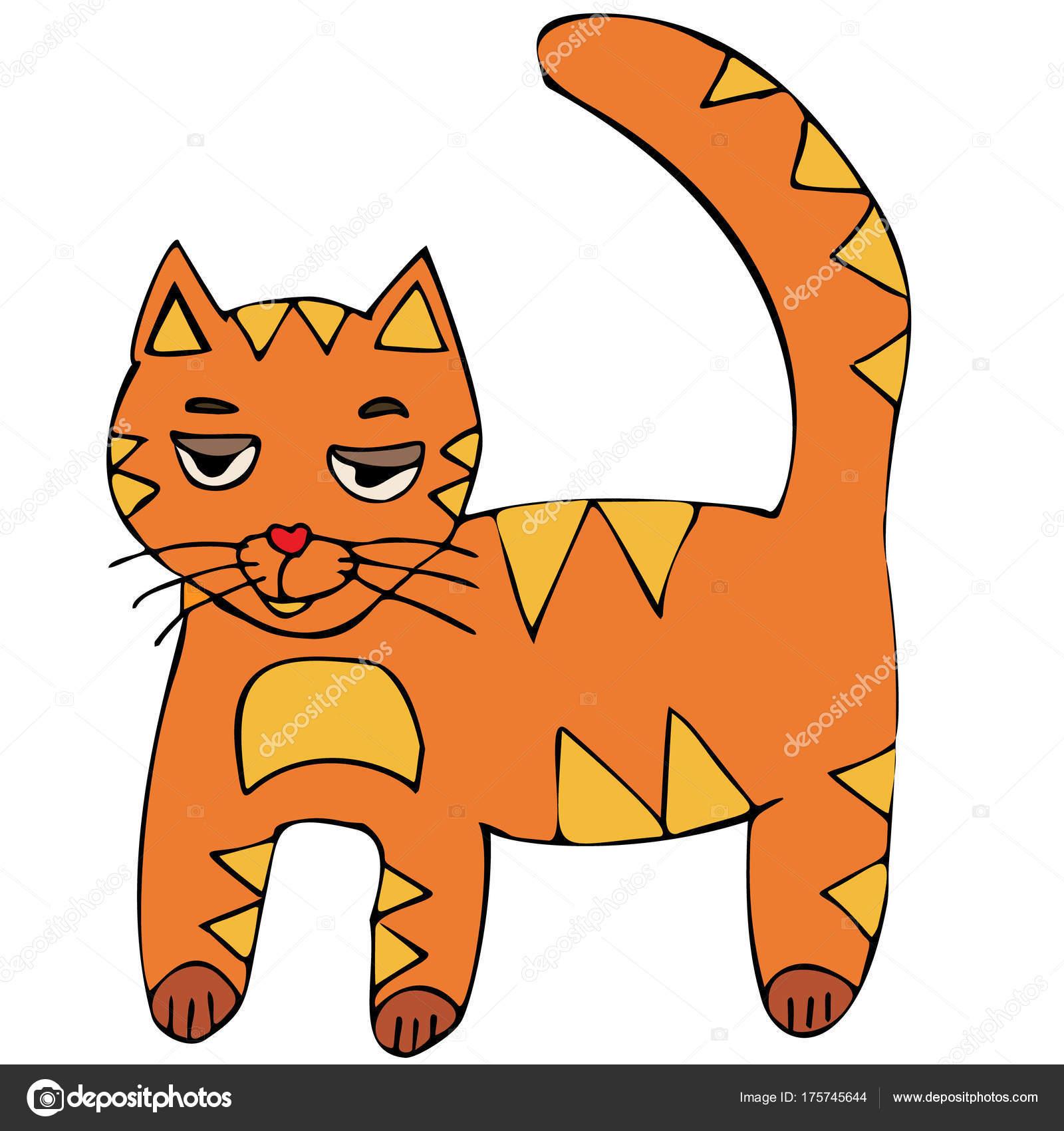 cat vector red headed kitten cartoon stock vector biruzza 175745644 rh depositphotos com cat vector art cat vector logo