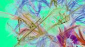 Reticolo di frattalo variopinto caotico di fantasia. Forme astratte di frattalo. 3D rendering illustrazione sfondo o sfondo