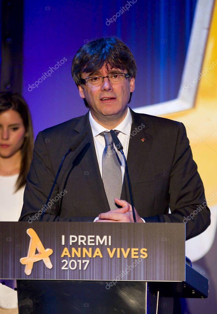 Carles Puigdemont, President of the Generalitat of Catalonia