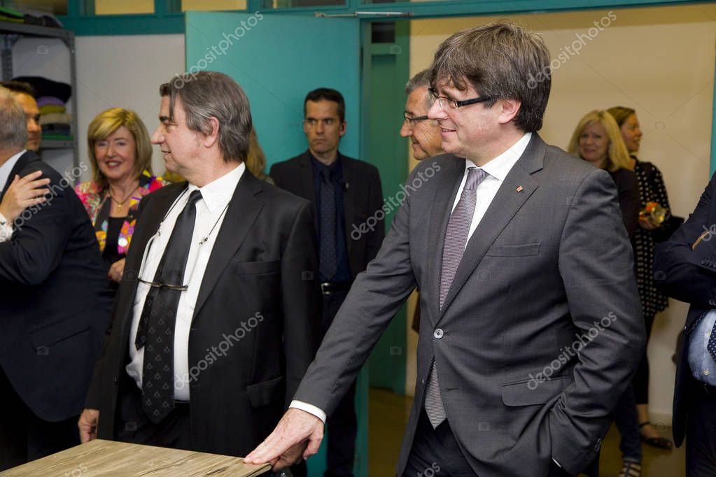 Carles Puigdemont, President of the Generalitat of Catalonia, in a NGO