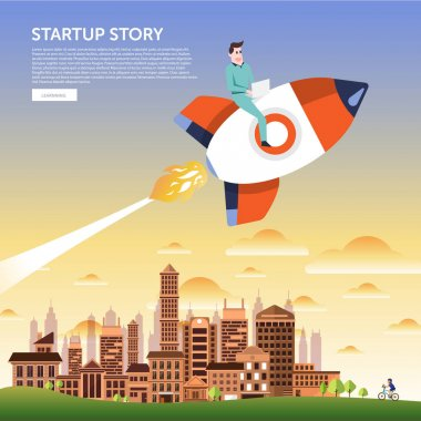 Startup concept illustrate