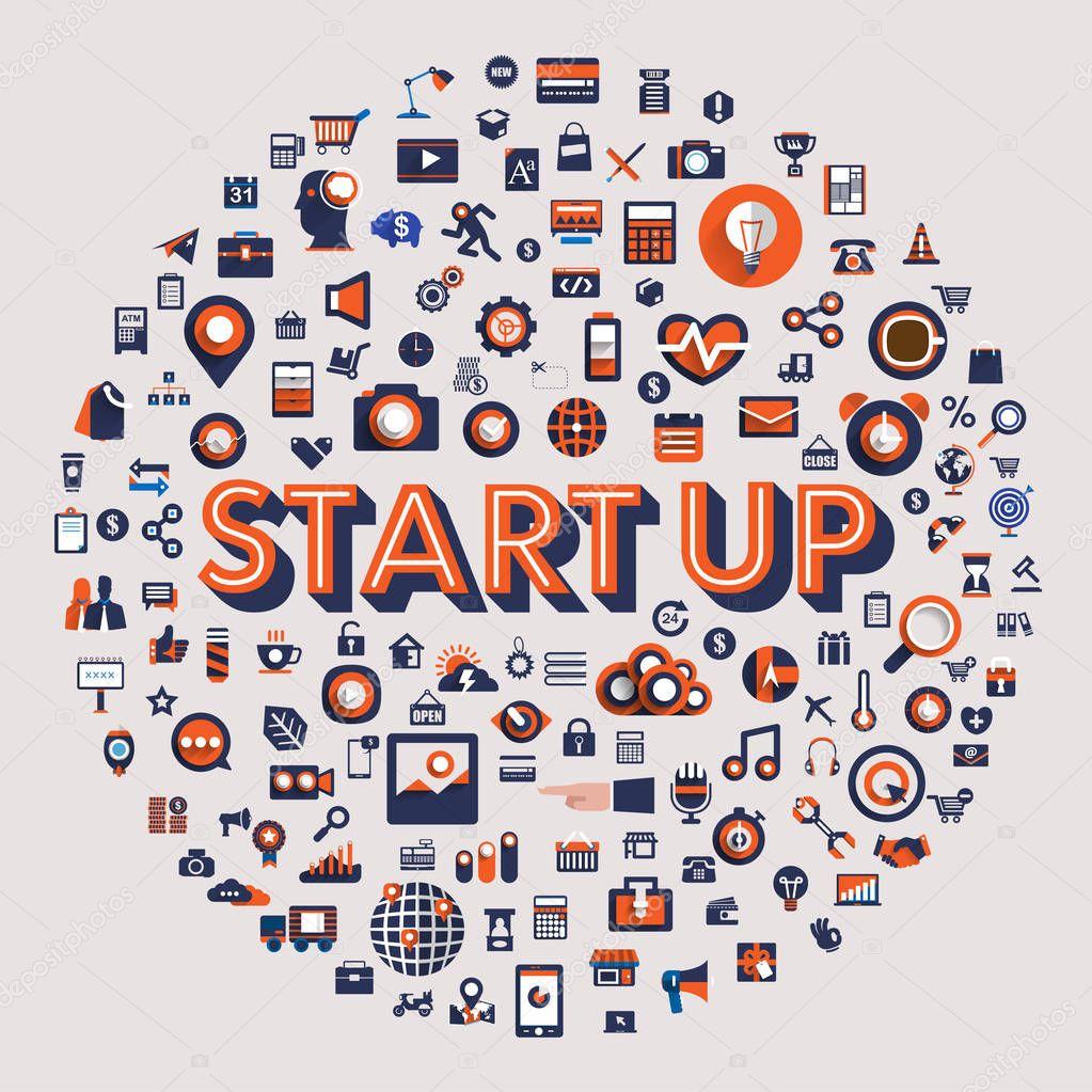 Startup development Concept