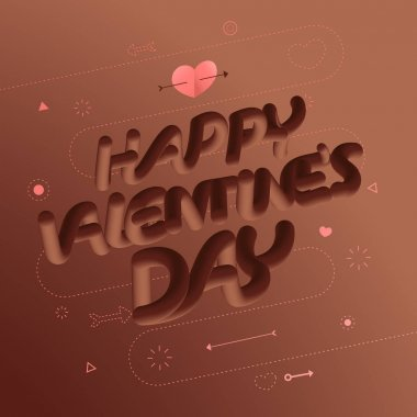 valentine concept hearth and text