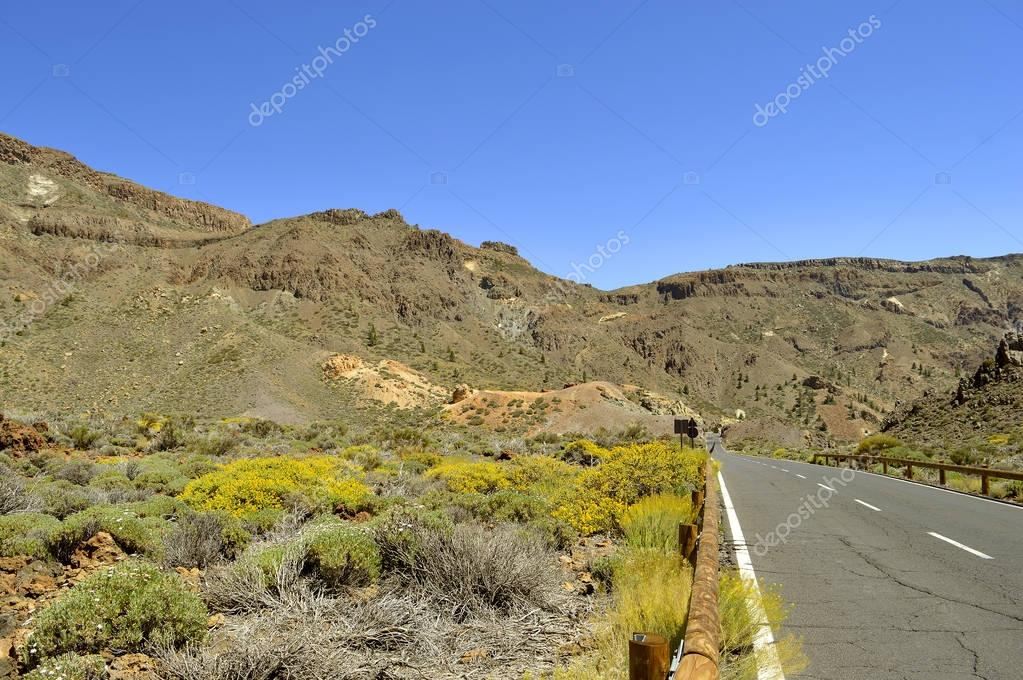 Boca Tauce in Mount Teide National Park country road