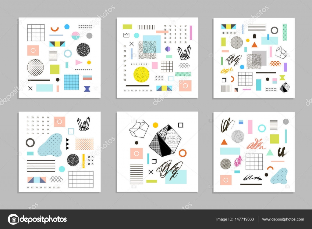 templates with different geometric shapes — Stock Vector © leepoo ...