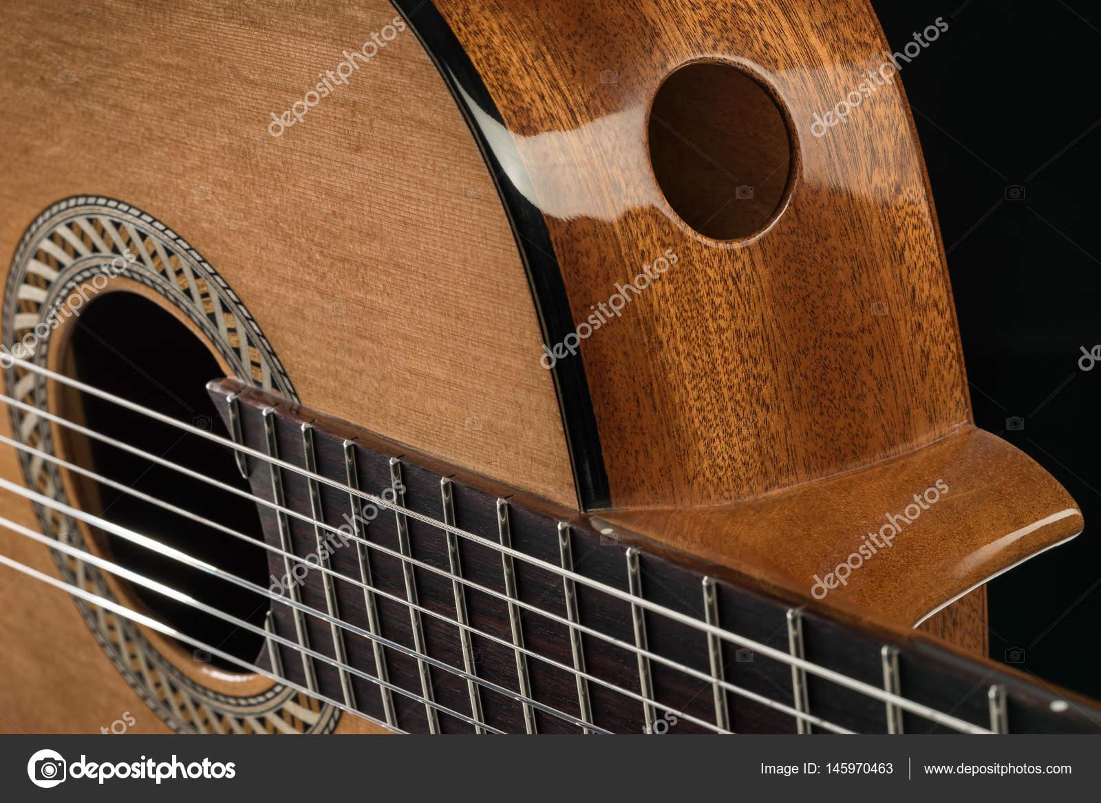 Detail Of A Beautiful Acoustic Guitar Stock Photo C Dimitarmitev